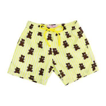 Mason Yellow Stripes and Brears Swim Trunks