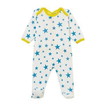 Petit Bateau Child Pyjamas White And Blue With Sailing Print
