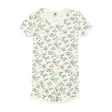 Petit Bateau Child Pyjamas White With Butterfly Print