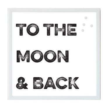 To The Moon & Back Magnet Board