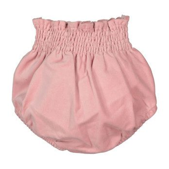 Velour Bow Bloomer, Pink