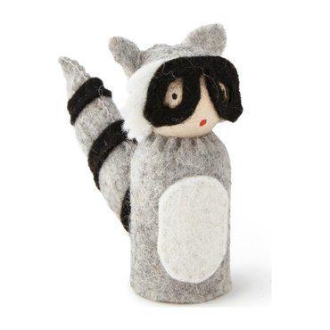 Peg Doll in Raccoon Costume