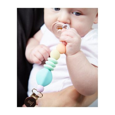 *Exclusive Rainbow Sherbet Pacifier Clip