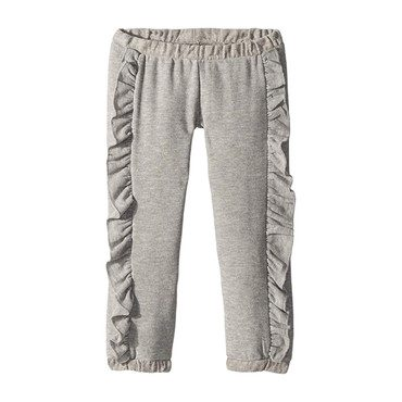 Cozy Knit Ruffle Side Jogger, Heather Grey
