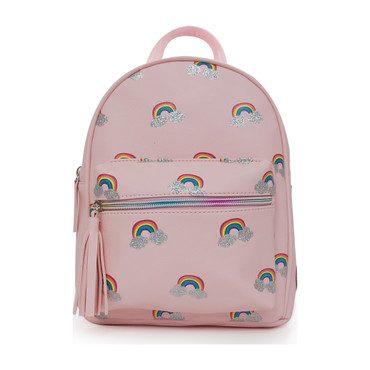 Rainbow Printed Mini Backpack