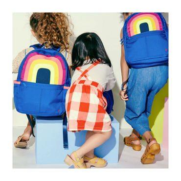 Color Block Kane Backpack, Rainbow