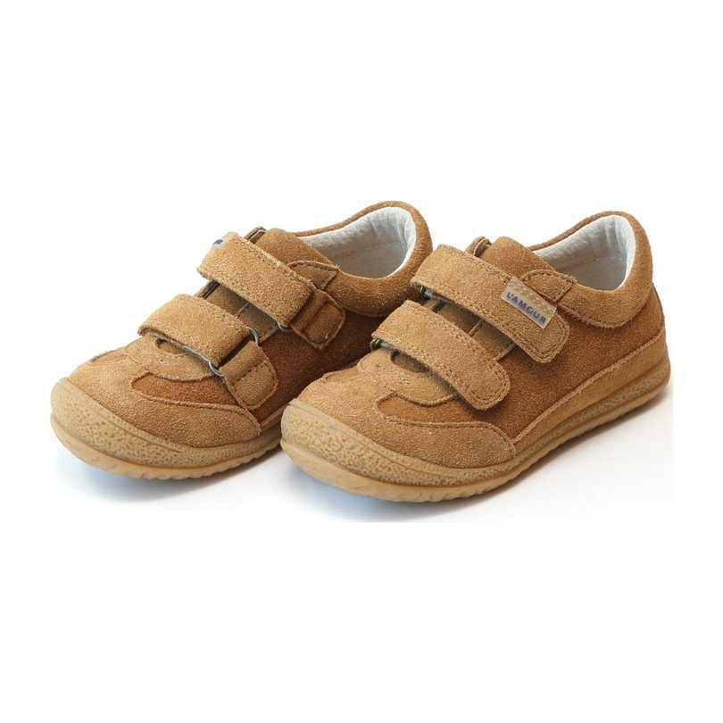 Oscar Double Velcro Sneaker, Chipmunk