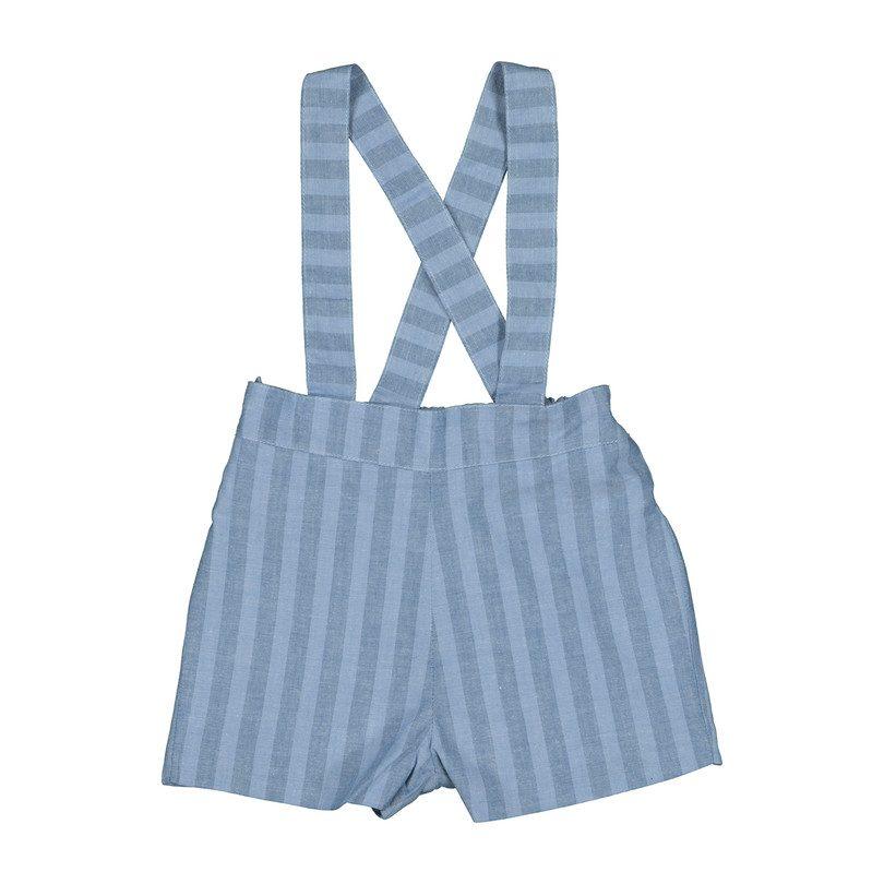 Brooklyn Striped Short with Braces, Blue