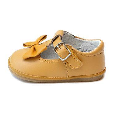 Baby Minnie Bow Mary Jane, Mustard