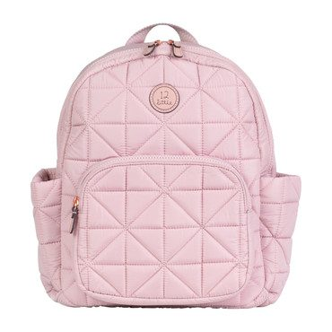 Quilted Little Companion Backpack, Blush Pink