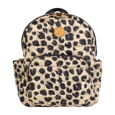 Quilted Little Companion Backpack, Leopard Print