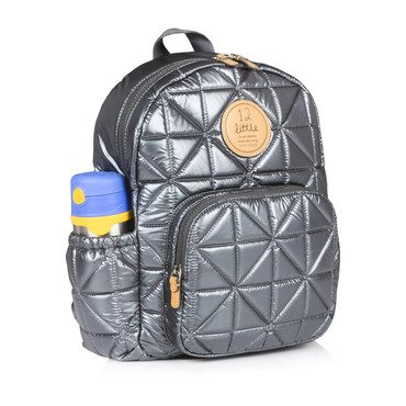 Quilted Little Companion Backpack, Pewter