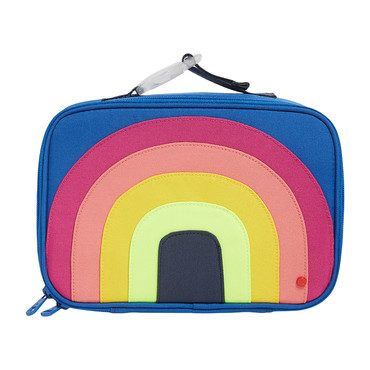 Color Block Rogers Lunch Box, Rainbow