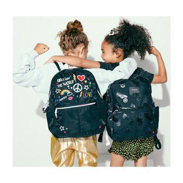 Girl Power Kane Backpack, Black Multi