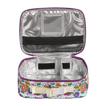 Ikat Print Rogers Lunch Box, White Multi