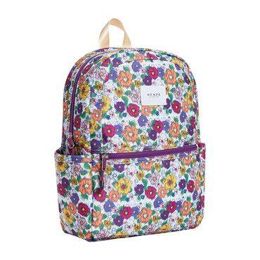 Ikat Print Kane Backpack, White Multi