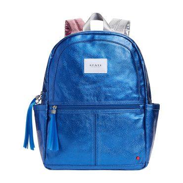 Metallic Kane Backpack, Blue Multi