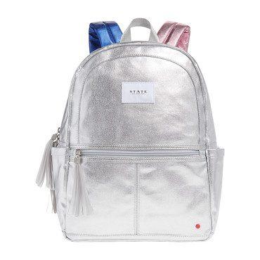 Metallic Kane Backpack, Silver Multi