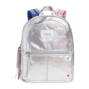 Metallic Mini Kane Backpack Silver Multi