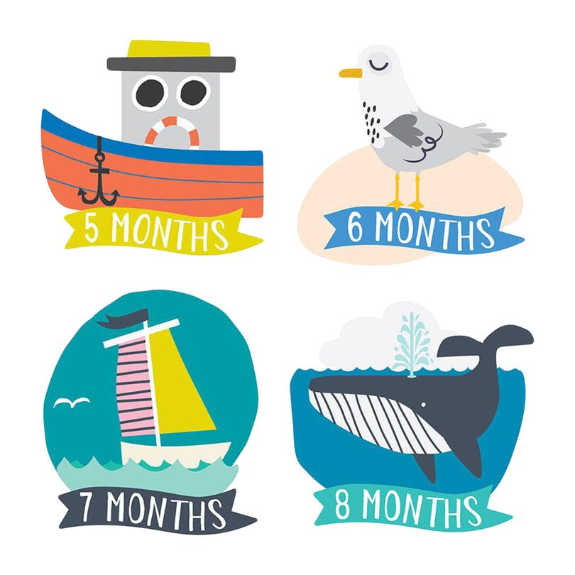 Little Captain Monthly Baby Stickers