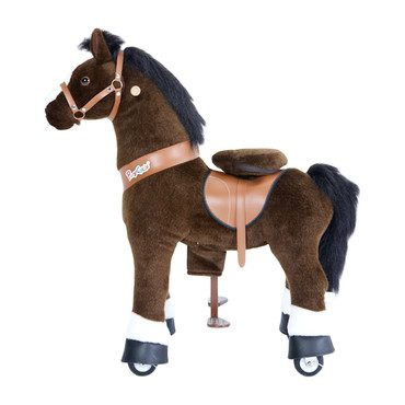 Dark Brown Horse with White Hoof, Small