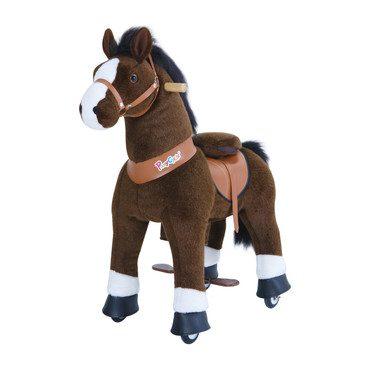 Dark Brown Horse with White Hoof, Medium
