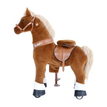 Brown Horse with White Hoof, Medium