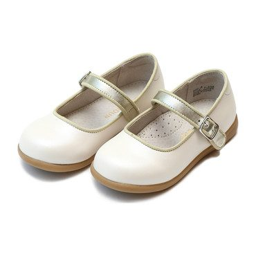 Olga Classic Buckled Mary Jane, White