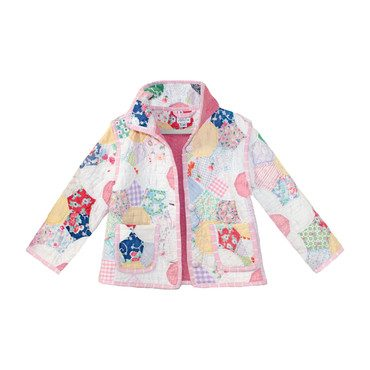 *Exclusive* Daisy Flower Patch Vintage Quilt Jacket -4Y