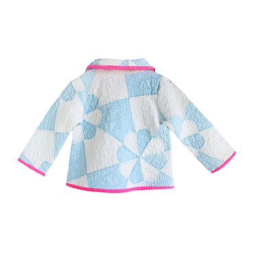*Exclusive* Neon Lucky Charm Vintage Quilt Jacket - 2Y