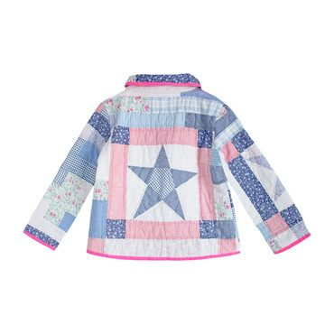 *Exclusive* Neon Chambray Vintage Quilt Jacket - 6Y