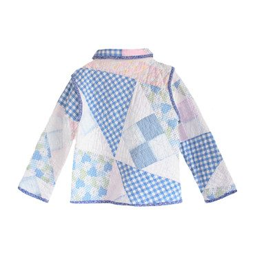 *Exclusive* Gingham Patch Vintage Quilt Jacket - 8Y