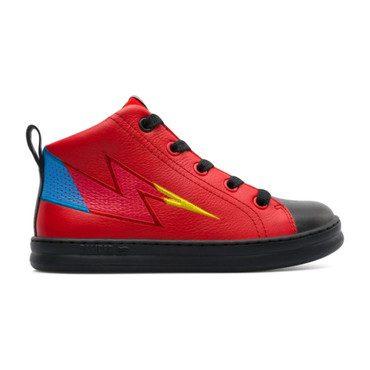 Runner Lightning Bolt Sneaker, Red