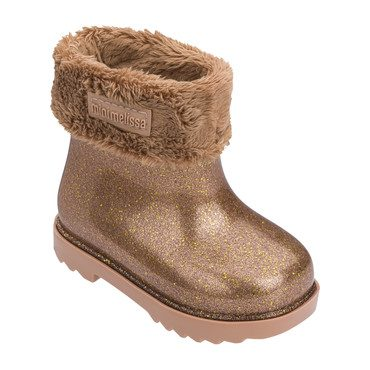 Baby Winter Boot, Brown Glitter