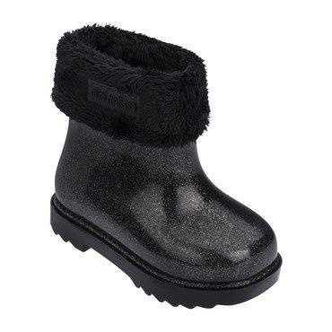 Baby Winter Boot, Black Glitter