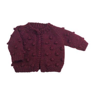 Dot Sweater, Pomegranate