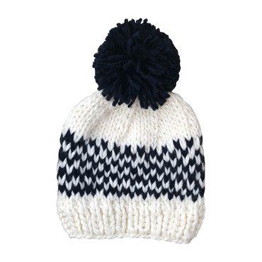Fair Isle Stripe Hat, Blue