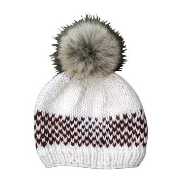 Fair Isle Stripe Hat, Cinnamon
