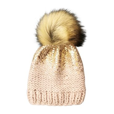 Pearl Hat, Pink and Gold