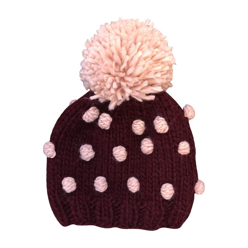Popcorn Hat, Pomegranate and Pink