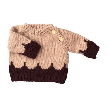 Scallop Sweater, Pink and Pomegranate