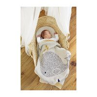 Little Water Whale Knitted Blanket