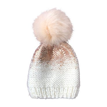 Pearl Hat, Cream and Rose Gold