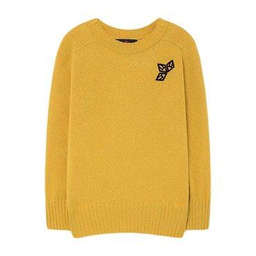 Sardine Sweater, Yellow Logo