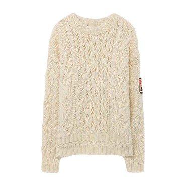 Braid Blowfish Sweater, Raw White