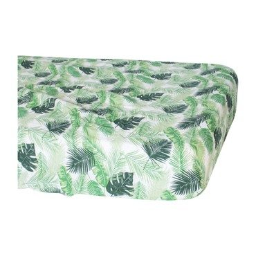 Muslin Crib Sheet, Palms