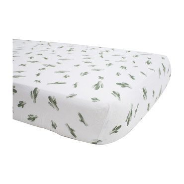 Muslin Crib Sheet, Saguaro