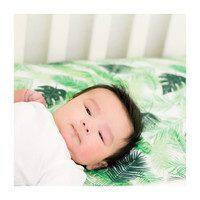 Muslin Crib Sheet, Palms
