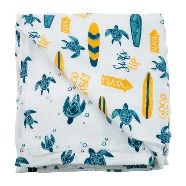 Snuggle Blanket, Surf + Sea Turtles