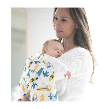 Swaddle Blankets, Surf + Sea Turtles